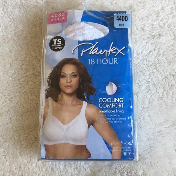 1a1a4a99956 Women s Playtex 18 Hour Bra White 44DD New